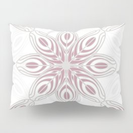 Feathers, Geometric Pattern in Mauve and Grey Pillow Sham