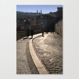 Cobbled Street near Prague Castle Canvas Print