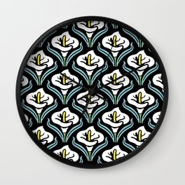 Calla Lily Pattern Wall Clock