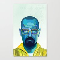heisenberg Canvas Prints featuring Heisenberg by Ned & Ems