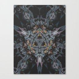 Purple Black Lime Canvas Print