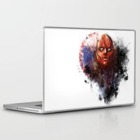 red hood Laptop & iPad Skins featuring Red Hood by Vincent Vernacatola