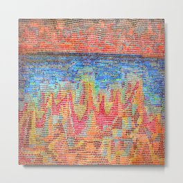 Paul Klee Cliffs by the Sea Metal Print