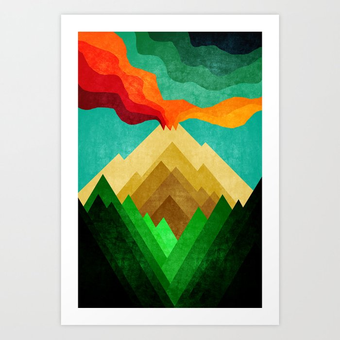 Vulcan Mountain Art Print