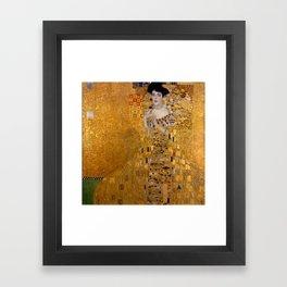 Adele Bloch-Bauer I by Gustav Klimt Framed Art Print