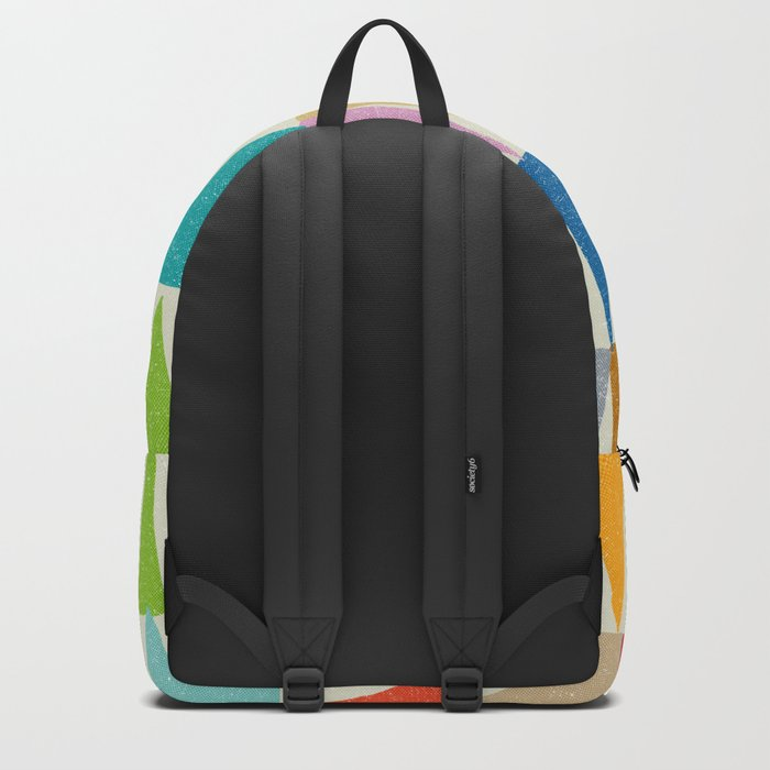 Analogous Shapes In Bloom. Backpack