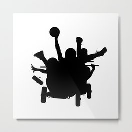 #thejumpmanseries, Sanka, you dead mon? Metal Print