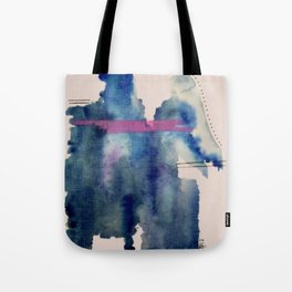 Pour: a blue and purple abstract watercolor Tote Bag