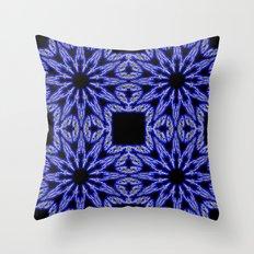Blue & Black Electric Color Burst Throw Pillow