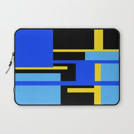 Rectangles - Blues, Yellow and Black Laptop Sleeve