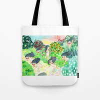psychedelic Tote Bags featuring Psychedelic by Risahhh