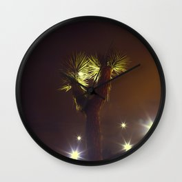 Joshua Tree Nightlights Wall Clock