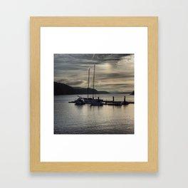 Sailing Solitude Framed Art Print
