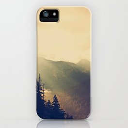 Sunrise over the Mountians iPhone Case