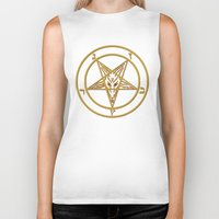 baphomet Biker Tanks featuring Courting Baphomet by Framed In Blood Art