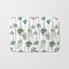 hanging pots pattern Bath Mat