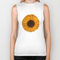sunflower Biker Tanks featuring Sunflower by Imagology