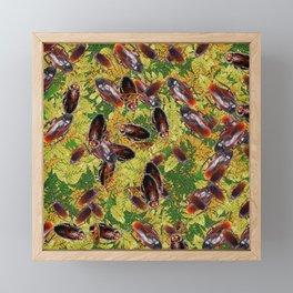 Cockroaches Framed Mini Art Print