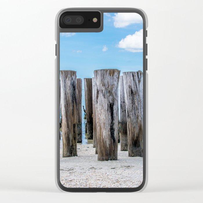 Pillar Beach Clear iPhone Case
