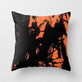 Orange Base black Throw Pillow