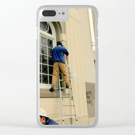 Hello Up There Clear iPhone Case