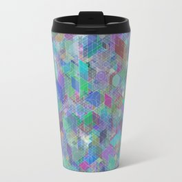 Panelscape + circles - #2 society6 custom generation Travel Mug