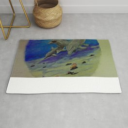 Family of Dolphins Rug