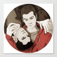 teen wolf Canvas Prints featuring Teen Wolf by suis0u