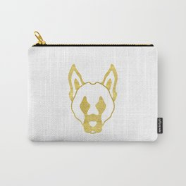Gold head of dog Carry-All Pouch