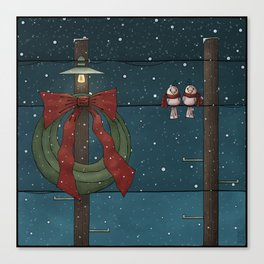 There's a Feeling of Christmas Canvas Print
