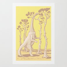 Reaching the Tree Tops Art Print