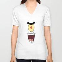 spongebob V-neck T-shirts featuring PLANKTON SPONGEBOB by September 9