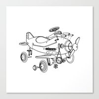 yowamushi pedal Canvas Prints featuring Pedal Plane by Mobii