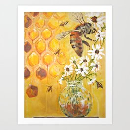Honeybees Art Print
