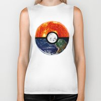 pokeball Biker Tanks featuring Galaxy Pokeball by Advocate Designs