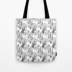 Jamaican Botanicals - Black & White Tote Bag