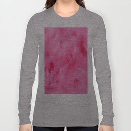 Pink Watercolor Long Sleeve T-shirt