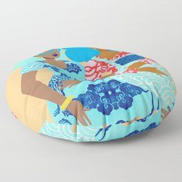Spring in Our Step Floor Pillow