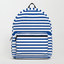 Blue Candy Stripes Backpack