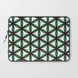 Seed of life pattern Green seed of life pattern Laptop Sleeve