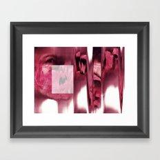 blurred blood portrait Framed Art Print