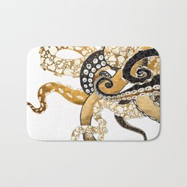Metallic Octopus Bath Mat