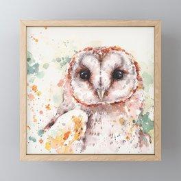 Australian Barn Owl Framed Mini Art Print