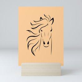 Horse head illustration Mini Art Print