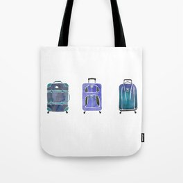 Let's Go Somewhere - Blue Tote Bag