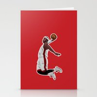 lebron Stationery Cards featuring Lebron James by siddick49