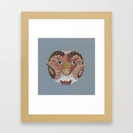 Aries (grey) Framed Art Print