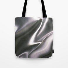 Silver Satin Tote Bag