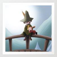 moomin Art Prints featuring Rentouttava päivä by JessicaMariana