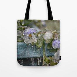 Pansies on Ice Tote Bag